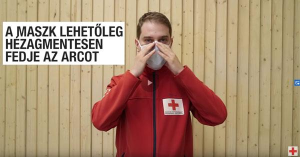 Szájmaszk oktatóvideó, Magyar Vöröskereszt