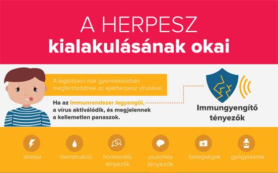 A herpesz kialakulásának okai