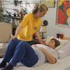 Beteg mozgatása az ágy vége felé