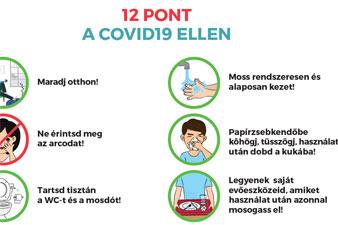12 pont a COVID-19 ellen