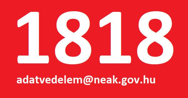 1818 vagy adatvedelem@neak.gov.hu