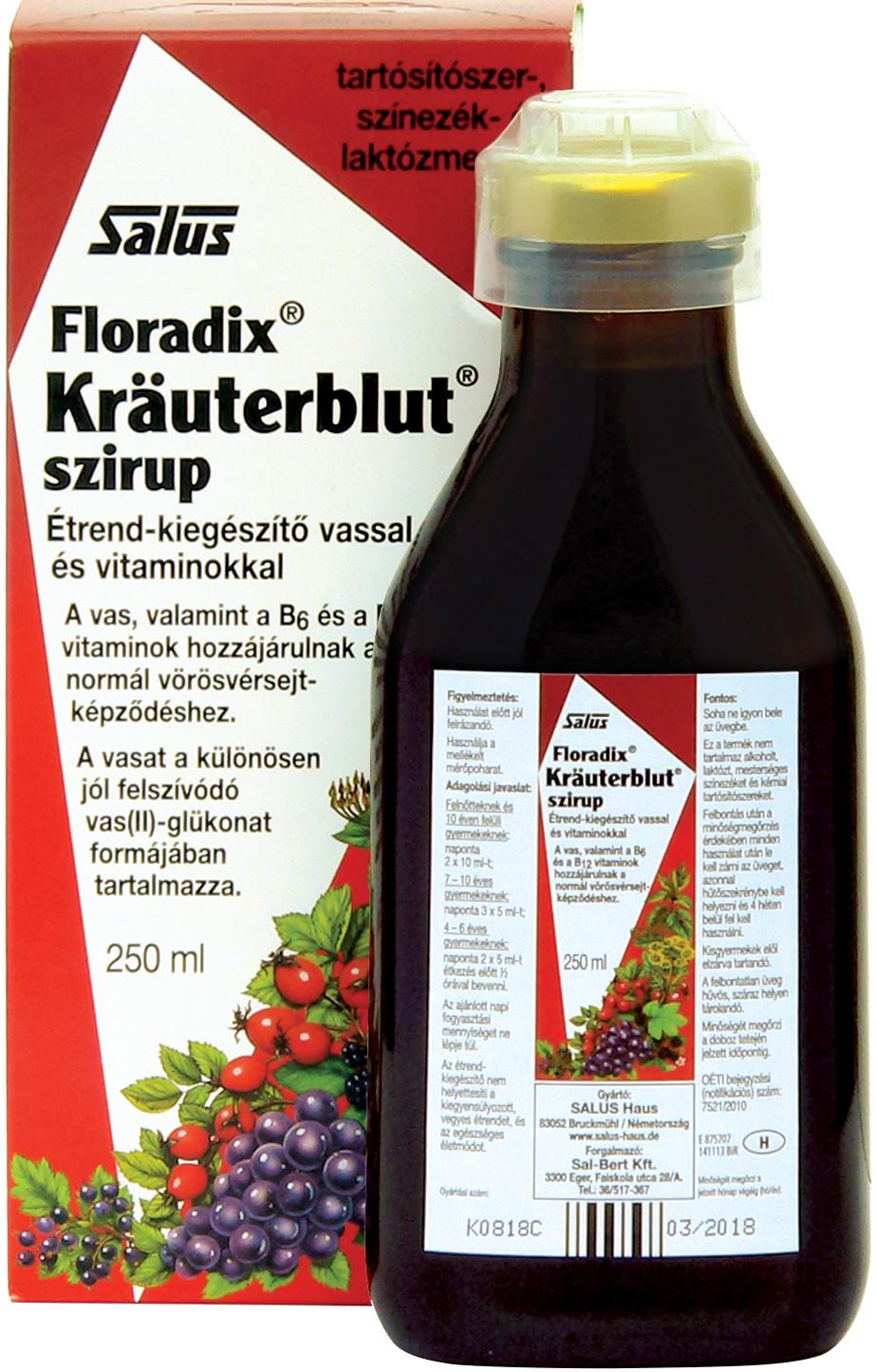 Floradix KRÄUTERBLUT szirup