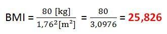 Példa a BMI számításához
