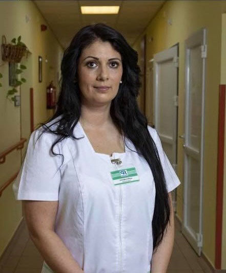Sztojka Edina Aranypánt-díjas ápolónő