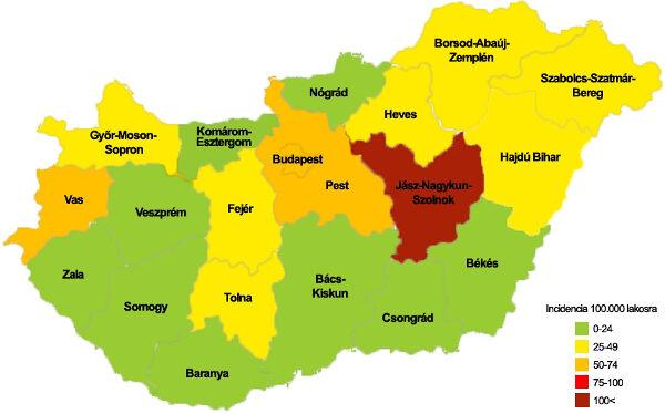 influenza térkép Influenza körkép influenza térkép