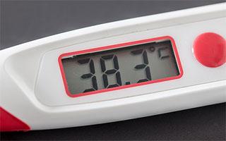 Lázmérő 38,3 celsius fok