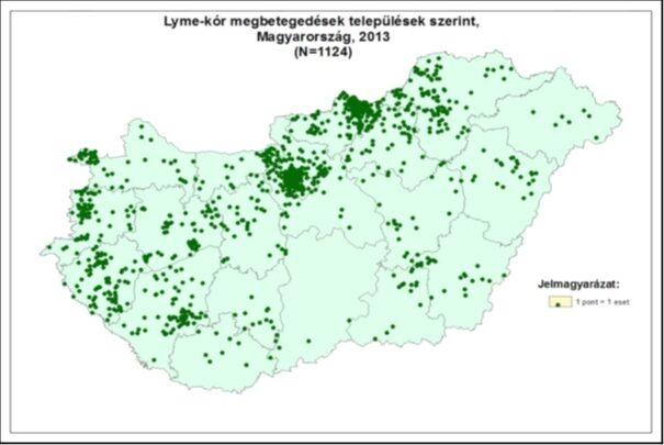 kullancs térkép magyarország 2014 Kullancs térkép: Melyek a veszélyeztetett területek? kullancs térkép magyarország 2014