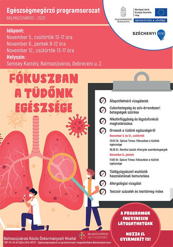 Fókuszban a tüdőnk egészsége - Plakát