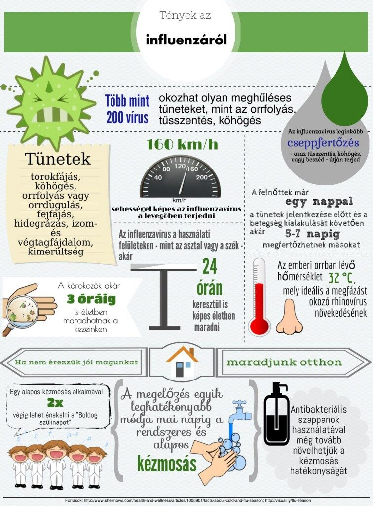 Influenza infografika