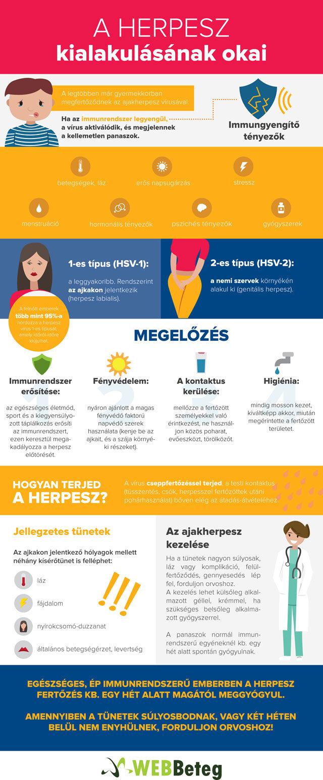 Herpesz infografika