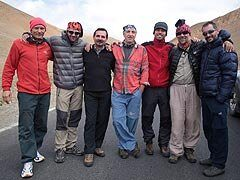 Himalája-expedíció csoportkép Tingrinél